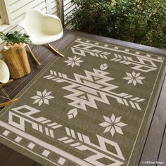Philpott All Weather Indoor Outdoor Black Area Rug - philpott all weather indoor outdoor schwarzer teppich - - On Gravel outdoor rugs; And Cushions outdoor rugs Motifs Aztèques, Southwest Decor, Southwestern Decorating, Southwestern Chairs, Arrow Pattern, Dark Wax, Indoor Outdoor Area Rugs, Outdoor Living, Raw Wood