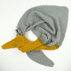 Free Pattern Shape of You shawl! Designed by Wieke van Keulen Crochet Scarfs, Crochet Shawl, Diy Crochet, Scarf Hat, Shape Of You, Knits, Free Pattern, Winter Hats, Wool