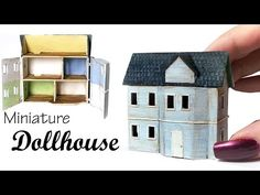 Simple Miniature Dollhouse Tutorial - YouTube