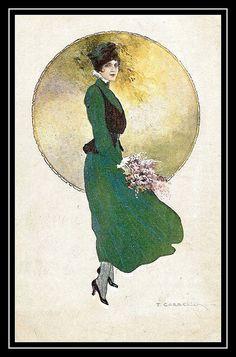 Art Deco Darling - Corbella postcard