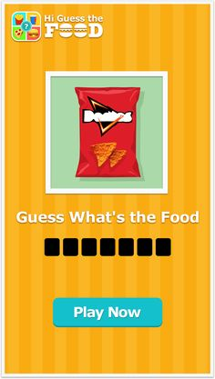 Watch the pic and guess the food brand. 500+ puzzles available.