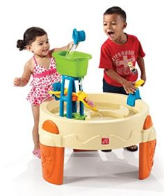 Kids can pour water down the waterslide or spin the water wheel Catapult diving board attaches to the water table and flips the toy swimmers into the pool… Best Water Table, Water Table Toy, Sand And Water Table, Sand Table, Water Toys, Water Play, Splash Water Park, Diving Board, Beach Kids