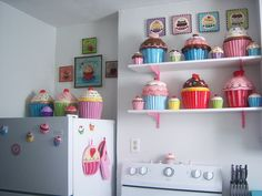 I would love to have a cupcake themed kitchen! Cupcake Kitchen   Flickr - Photo Sharing!