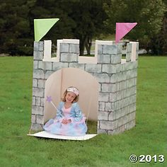 Oriental Trading Company Free PDF for making cardboard Castle for a knight or medieval party Princess Theme Party, Disney Princess Party, Princess Birthday, Princess Castle, Dragon Birthday, Dragon Party, Knight Party, Prince Party, 4th Birthday Parties