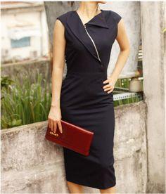 VINCY pencil rockabilly vintage inspired dress 50s custom made. $90.00, via Etsy.