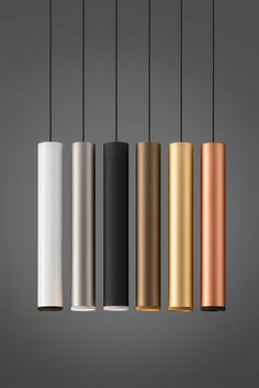 Beam Stick is a series of cylindrical-shaped LED suspensions. The light beam, available with different wattages, is suitable to illuminate a surface with punctual precision. Modern Lighting Design, Interior Lighting, Ceiling Design, Lamp Design, Design Design, Pendant Lamp, Pendant Lighting, Metal Beam, Vintage Industrial Lighting