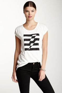 We love this Short Sleeved striped-bolt Graphic tee! We think it is really cool! For further style queries and tips log on to mtv.in.com/style