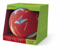 """Boxed 8.5"""" Playball (Dinosaurs) by Crocodile Creek. $14.99. For all ages.. Balls are 8.5"""" diameter.. Box is 9""""W x 9""""H x 9""""D. Indoor and outdoor fun with out brightly-colored, heavy-duty, textured playground balls. New size in a wonderful gift box!"""