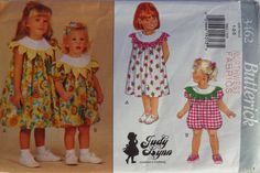 Butterick 3462 Toddlers'/Girl's Dress and Romper