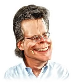Stephen King Caricature FOLLOW THIS BOARD FOR GREAT CARICATURES OR ANY OF OUR OTHER CARICATURE BOARDS. WE HAVE A FEW SEPERATED BY THINGS LIKE ACTORS, MUSICIANS, POLITICS. SPORTS AND MORE...CHECK 'EM OUT!!