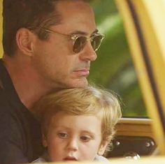 Robert Downey Jr. and son Exton Downey, 2.