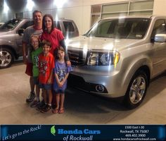 #HappyAnniversary to Donna and Troy Bell on your 2014 #Honda #Pilot from Jim Rutelonis at Honda Cars of Rockwall!