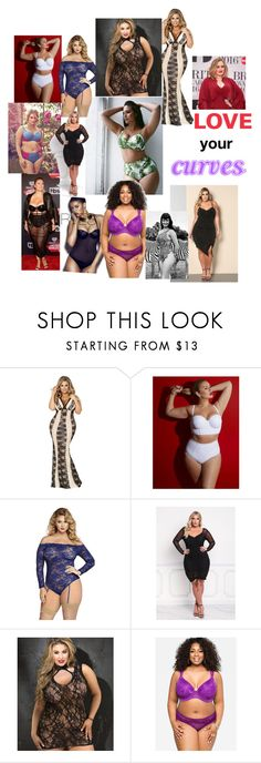 """""""Curves"""" by dobesht ❤ liked on Polyvore featuring Lela Rose, Tara Lynn, Shirley of Hollywood, Ashley Stewart and Bettie Page"""
