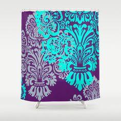 Caractères gras bijou ton rideau de douche Damas décor par hhprint