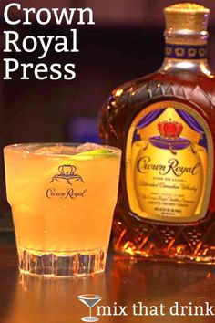 The Crown Royal Press drink recipe makes the most of Crown Royal Canadian whisky. It's a delicious, refreshing cocktail , with bitters, lemon and other citrus ingredients. It's a little bit tart, sweet and just a little bit smoky. #mixthatdrink #crownroyal #whiskeydrinks #drinkrecipes