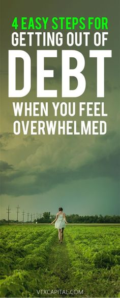 Getting out of debt and paying off debt can be easy with these 4 simple tips! A must read for anyone looking to make extra money or get out of debt