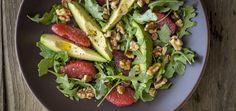 Liver-Cleansing Arugula   Avocado Salad With Citrus Flax Vinaigrette