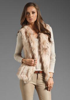 WISH Atlanta Fur Vest in Cameo
