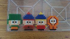 Perler Bead Chibi South Park Boys by GingerPocky