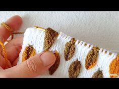 Yepyeni hazan yaprağı Örgü crochet modeli tunisan Tunus işi örgü modeli - YouTube Crochet Motifs, Tunisian Crochet, Crochet Blanket Patterns, Crochet Stitches, Stitch Patterns, Knitting Patterns, Crochet Cushion Cover, Crochet Cushions, Baby Knitting