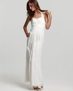 Jill Stuart Chiffon Halter Gown in White (off white) - Lyst
