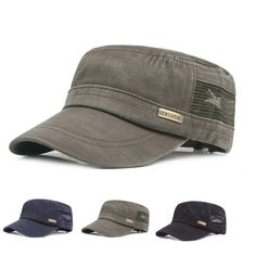 0a8f483aebe Only US 12.48 shop mens summer solid hollow out flat hats outdoor peaked cap  at Banggood