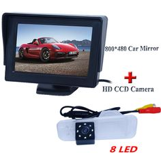 Hot selling car  rear view camera higest night vision -8 led +wire black plastic shell car monitor fit for  Kia K2 Sedan