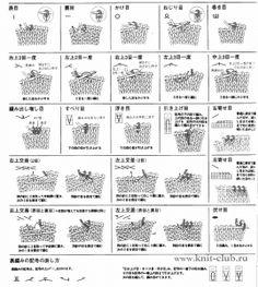 Обозначения в японских схемах вязания спицами http://www.knit-club.ru/