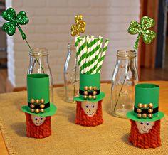 Toilet Paper Roll Leprechauns  |  View From The Fridge