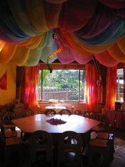Beautiful way of lowering the roof to make a room more child-sized :)