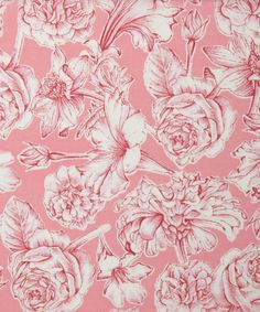 Sheree A Tana Lawn | Liberty Art Fabrics | Inspired by the vintage style soap packaging of Neste Dante bath products, the Sheree fabric design incorporates hand-drawn pencil drawings to create a tonal, shaded floral pattern