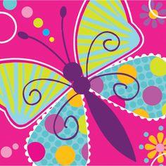 Bulk Butterfly Sparkle Beverage Napkins - 16 / pkg, 12 pkgs / case