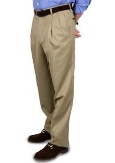 BERLE Tan Super 100s Gabardine Trousers