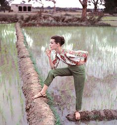 vintagegal:  Norman Parkinson- Paddy Fields in the late summer, India, Vogue, 1956