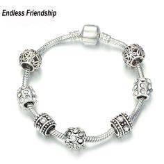 AAA Zircon Charm Bracelet for Women Fit Pandora Bracelet & Bangles Jewelry DIY Making Accessories