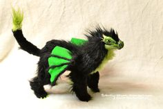 dragon poseable art doll game of thrones inspired fluffy dragon