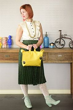 Handmade Designer Yellow Satchel Style Vegan Bag  Over the Shoulder CrossBody or Backpack ** Check out this great product.-It is an affiliate link to Amazon.