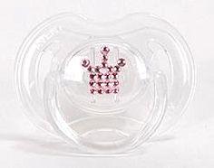 Binky Bling Pink Crown Pacifier