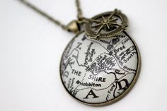 LOTR map pendant.