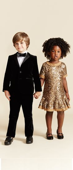 Light up the dance floor with miniature party attire from Dolce & Gabbana and Little Marc Jacobs.