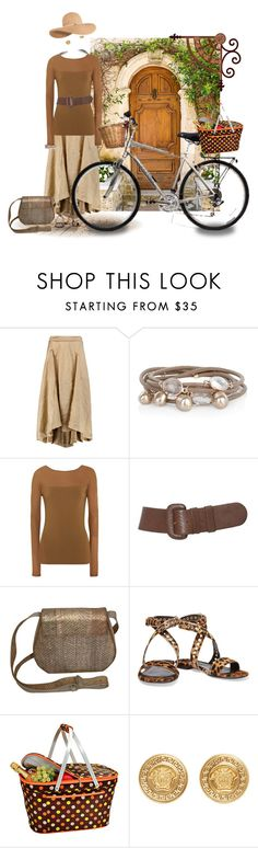 """""""Tuscan Picnic"""" by fm3happy ❤ liked on Polyvore featuring Donna Karan, Marjana von Berlepsch, Picnic at Ascot, Versace, Eugenia Kim, women's clothing, women, female, woman and misses"""