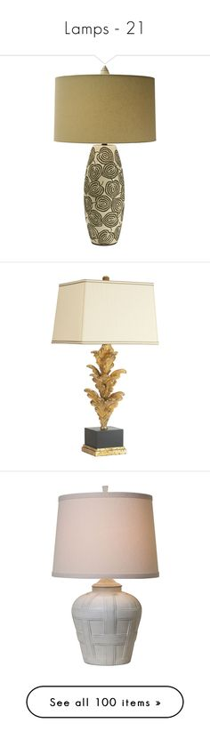 """""""Lamps - 21"""" by lynnspinterest ❤ liked on Polyvore featuring home, lighting, table lamps, white, white lights, white lamp, white finials, the natural light, transitional lamps and ethan allen"""