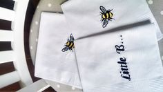 Embroidered hankies, now for sale. Bespoke option available.