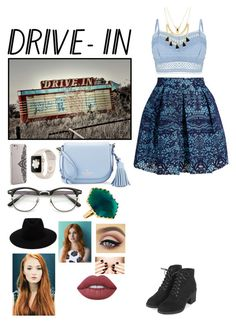 Drive In Date Outfit by tee-teeluv on Polyvore featuring polyvore, fashion, style, Lipsy, Maje, Topshop, Kate Spade, Lana, Forever 21, rag & bone, Nanette Lepore, Lime Crime, clothing, DateNight, drivein and summerdate