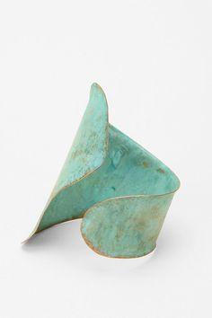 sibilia patina brass cuff #turquoise