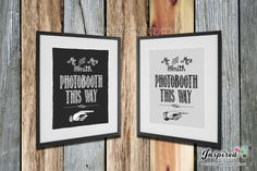 Photobooth This Way  Print Rustic Sign by inspiredcompany4u