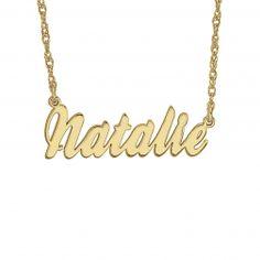 Cursive Name Plate Necklace - $125.00