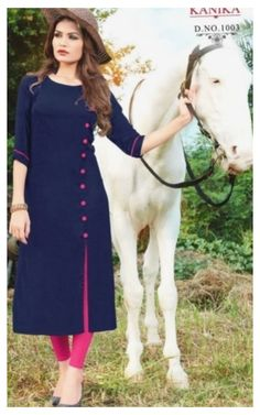 Plain Kurti Designs, Silk Kurti Designs, Salwar Neck Designs, Churidar Designs, Kurta Neck Design, Dress Neck Designs, Kurta Designs Women, Kurti Designs Party Wear, Stylish Dress Designs