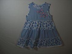 Wonder Kids Girls Size 24 Months Blue Dress Everyday Spring Sleeveless  #WonderKids #Everyday