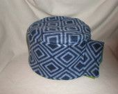 Igloo House Fleece Cover Fleece Hedgehog Pocket Pet Blue Geometric  $8.99